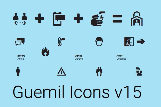 La décimo quinta versión de Guemil recientemente ha sumado diez nuevos íconos relativos a la crisis sanitaria actual del Covid-19.