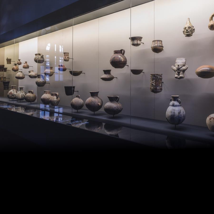 Imagen piezas de cerámica del Aula de Arte Pueblos Originarios