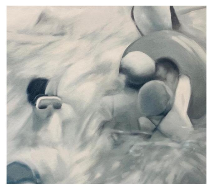 Neuronas. Pintura de la artista Nicole Tijoux.